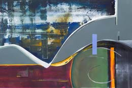 contemporary geometric art a unique painting for sale - intrigue