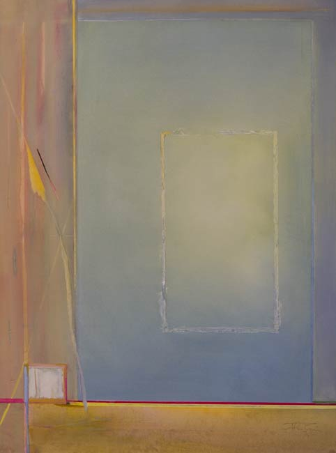 quiet minimal geometric abstract painting called cath the cloud