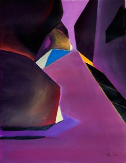 acrylic abstract landscape paintings. desert art – cutting through