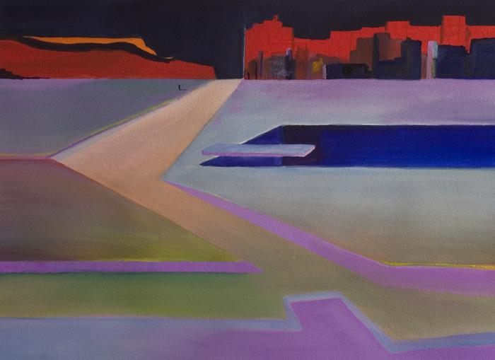 Passing Through, Original Painting by Alan Brain