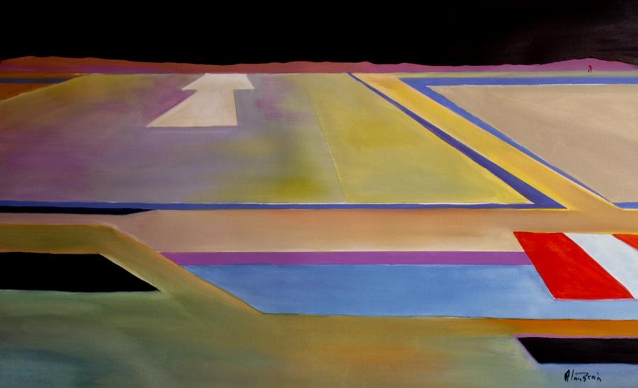different abstract aviation art final approach