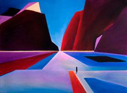 original abstract desert art edge of town