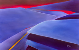 abstract aviation paintings Climb Out