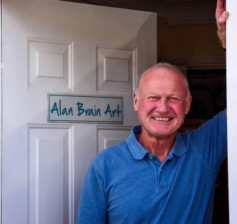 Art in Dorset Alan Brain Art Studio Gallery in Highcliffe Dorset The artist's own Studio - Gallery near Woking