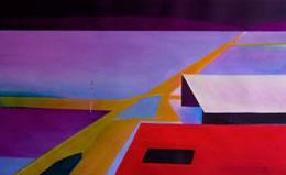 deep perspective art, a different abstract painting – encroachment