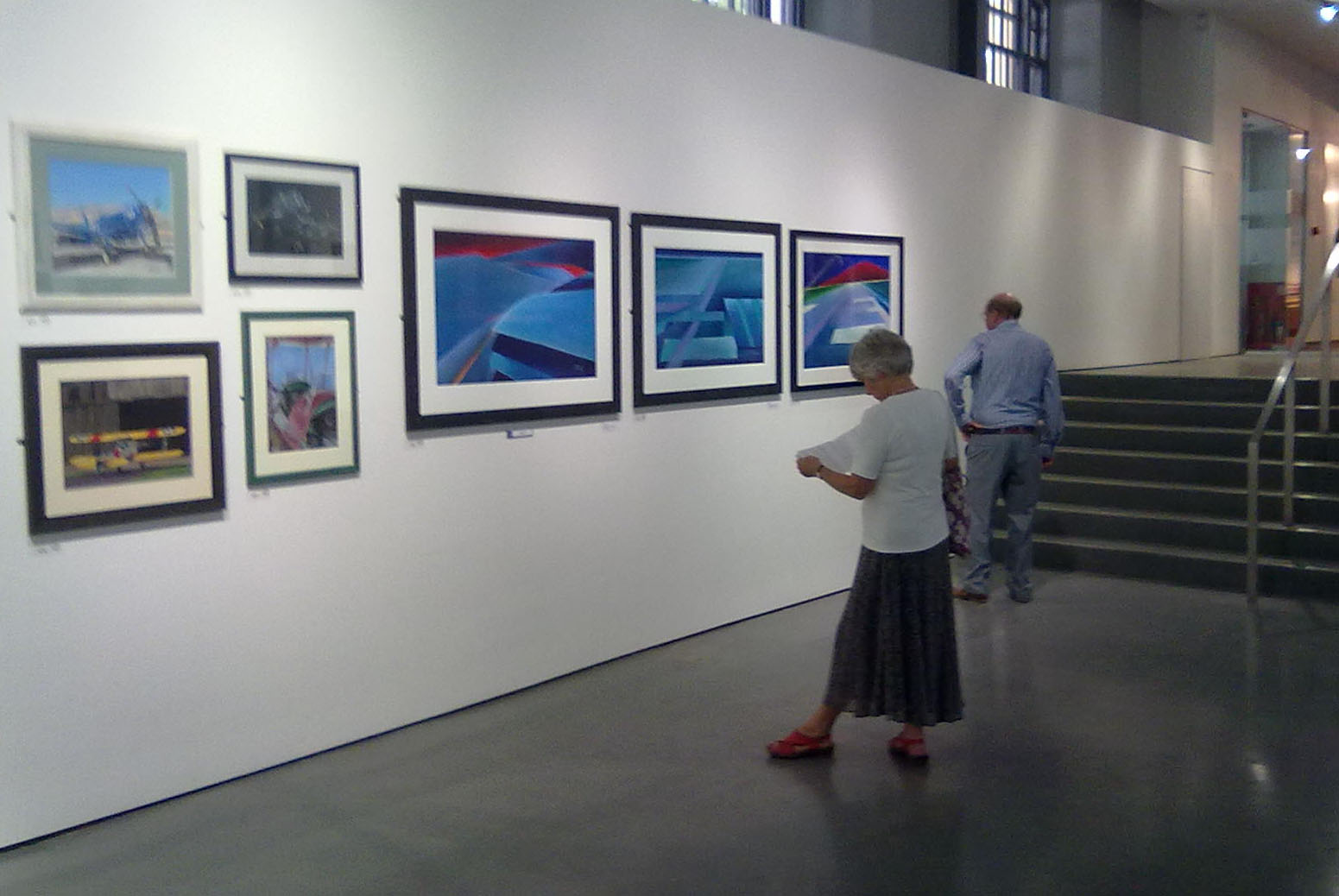 Guild of Aviation art at exhibition in mall gallery london