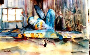 Duxford Warrior aviation art
