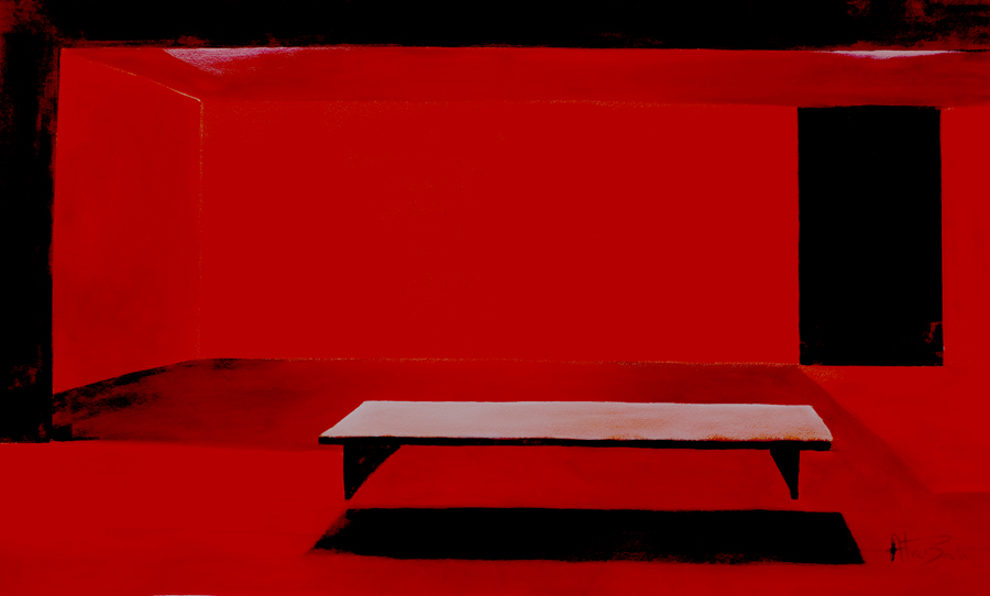 powerful abstract painting Red Room