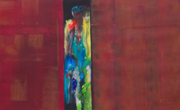 abstract figures – personal paintings – visitors