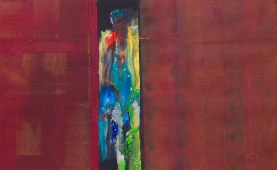 mysterious abstract figure paintings =watercolour landscape original painting Visitors