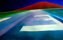 dramatic aviation art – final approach runway 13