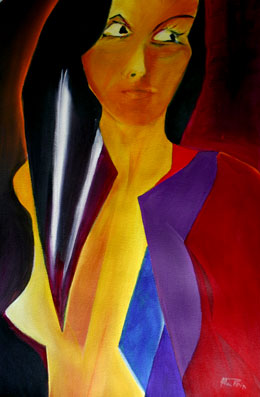 abstract figure painting Vee