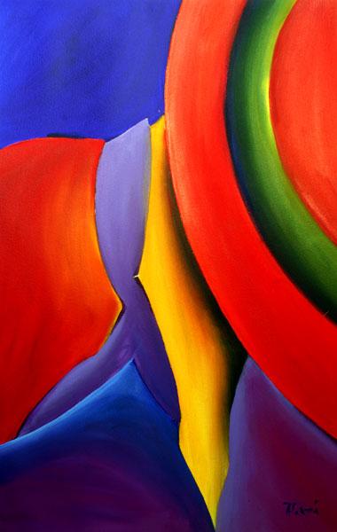 powerful acrylic abstract figure art Frank