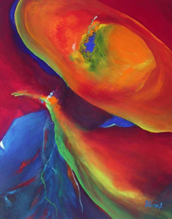 flowing watercolour art Flo