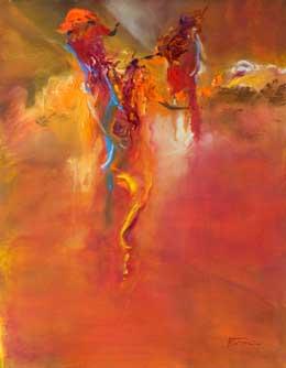 semi abstract figure art – rush