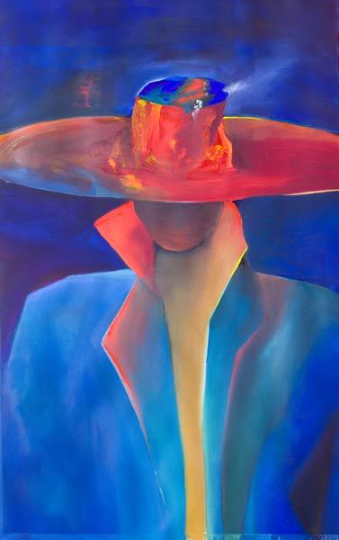 Spanish figure painting , abstract Senor!