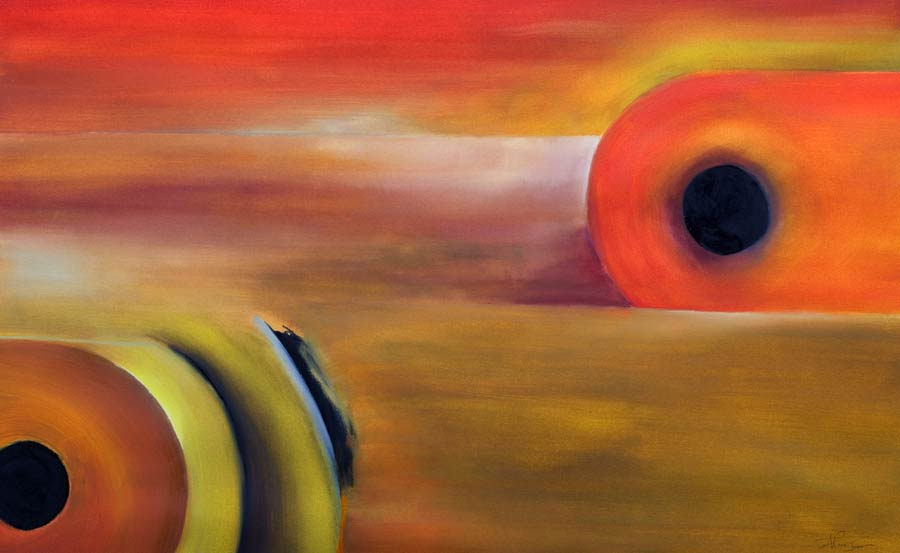 Different abstract painting - Hear the Desert
