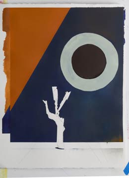 contemporary war artists original painting – danger tree