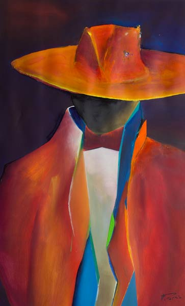 Espanole Abstract male figure painting - Senor III