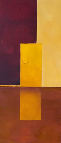 yellow abstract painting - solitary