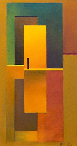 yellow abstract paintings