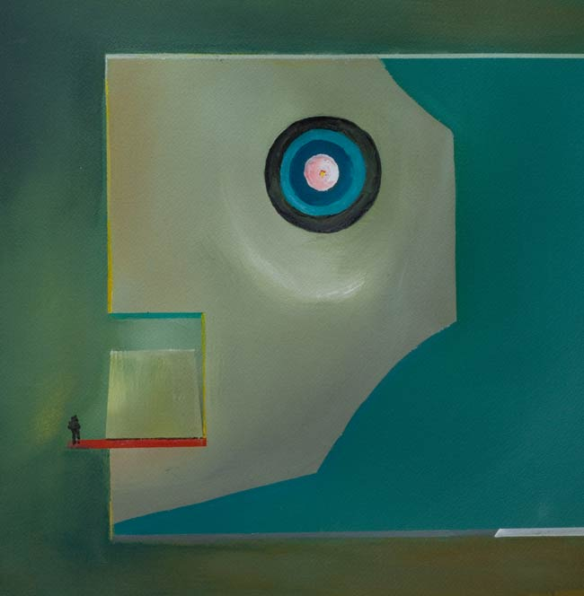 Haunting paintig abstract-war-paintings-Facing-Death