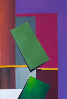 original geometric paintings in muted colours and rectangular shapes – Tumbling II