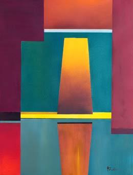 original geometric colourful art – individual honour