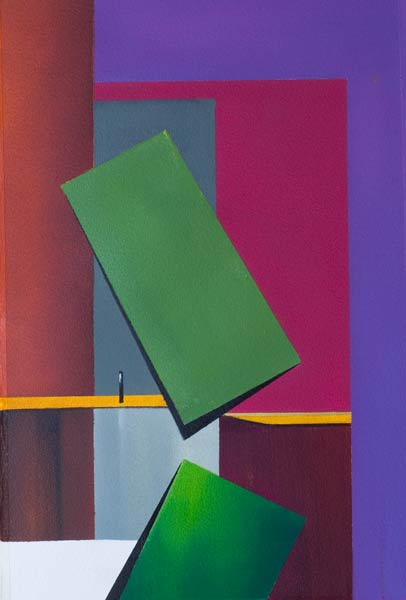 painting with muted-colours-rectangular-shapes---Tumbling-II