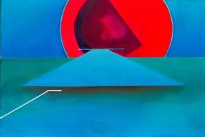 unique style aviation paintings – Evening Approach -original artwork