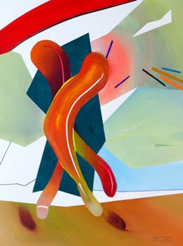 Exciting abstract figure art – Bounce