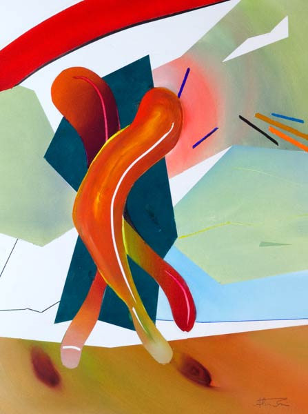 abstract figure paintings for sale. contemporary figure art bounce