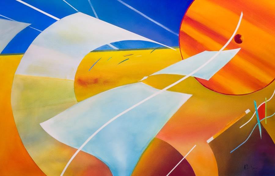 happy aviation painting