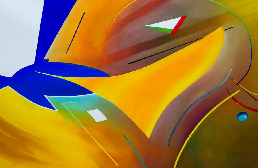 colourful abstract paintings inspired by Concorde
