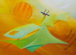 sold paintings geometric art abstract-aviation-paintings-Airborne