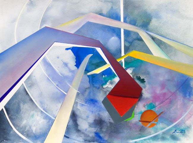 exciting geometric artwork - target
