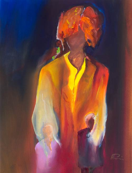 personal abstract figure painting - mother