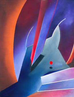 geometric abstract paintings by Alan Brain – My Way II