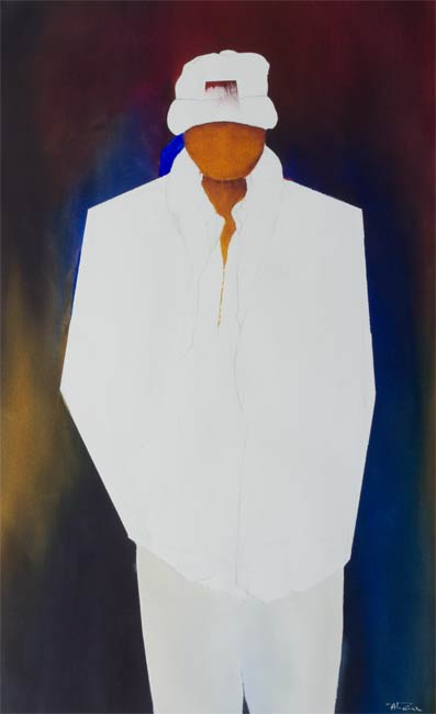 abstracted male figure painting- fly boy