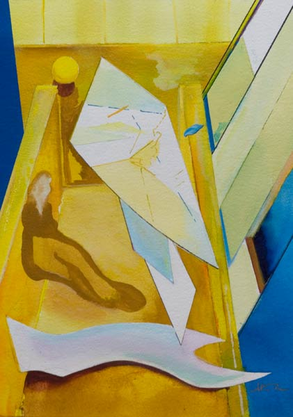abstract figure painting - dilemma