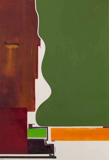 surreal abstract-paintings-in-UK---brown-and-green