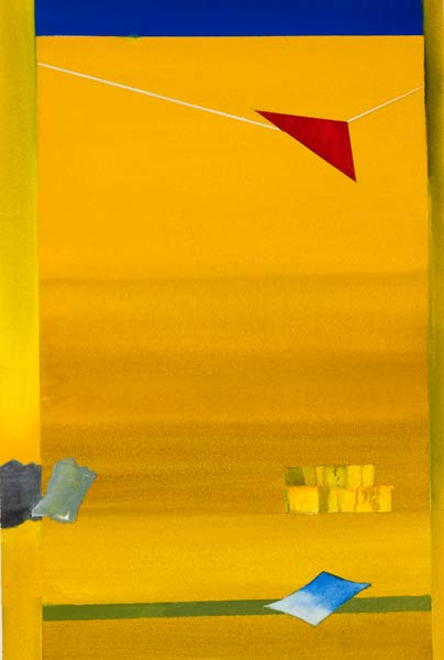 modern surrealism. a new painting from alan brain - flying II