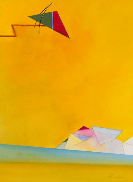 new surreal paintings -Toppling