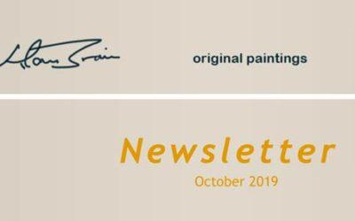 Alan Brain Art Newsletter October 2019