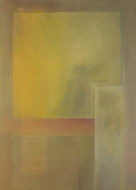 quiet geometric art a restful landscape painting - nebulus