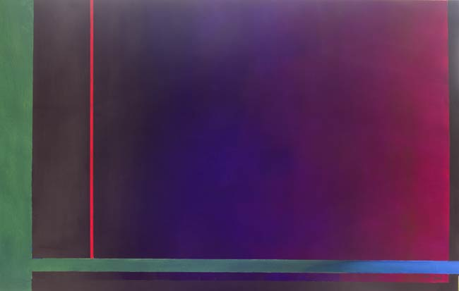 paintings with feeling -unique minimal art - thin red line