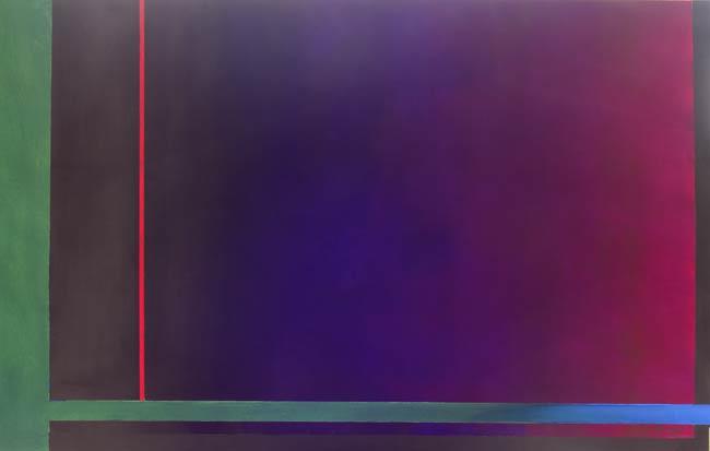 Unique art – vibrant minimalism – thin red line