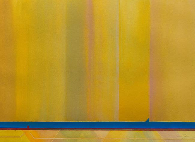 yellows and some blue in minimal artwork - consider