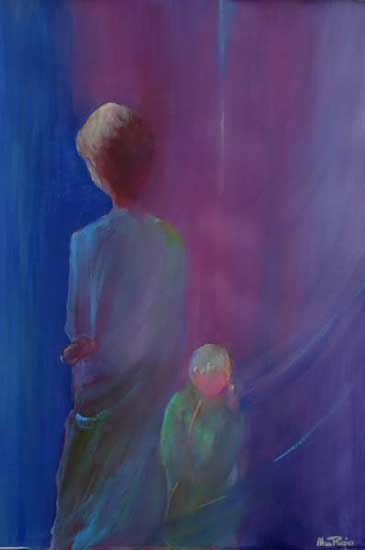 abstract figure paintings by alan brain