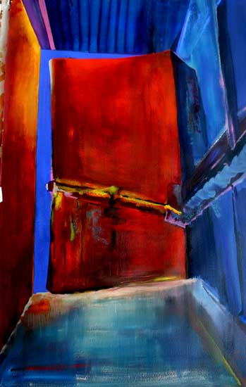 geometric art fire exit